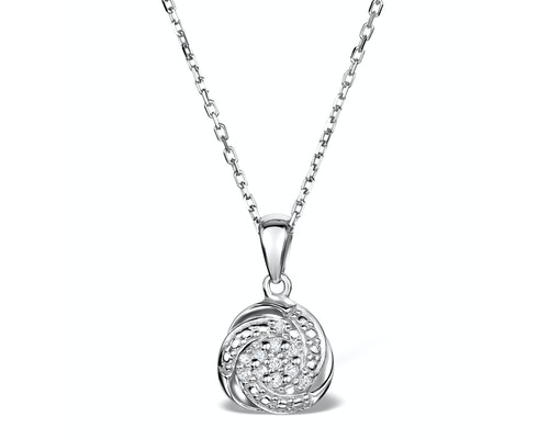 Silver Diamond Necklaces and Pendants