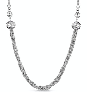 Allura Collection Tassle Design Diamond Necklace 0.02ct in 925 Silver