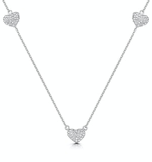 Allura Collection Heart Diamond Necklace in 925 Silver