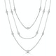 Tesoro Collection Multi Strand White Topaz Necklace in 925 Silver - image 1
