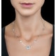 Princess White Topaz in Bezel Setting Tesoro Necklace in 925 Silver - image 2
