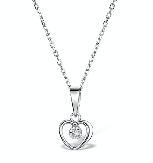 Diamond Heart Necklace in Sterling Silver - UR3229 - image 1