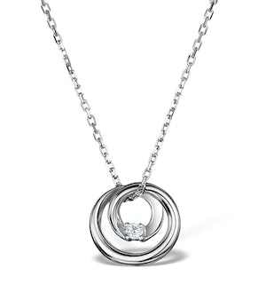 Diamond Loop Necklace in Sterling Silver - UR3233