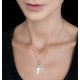 Mother and Child Diamond Tesoro Collection Necklace in 925 Silver - image 2