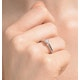 Low Set Chloe Lab Diamond Engagement Ring 0.25CT G/SI1 18K White Gold - image 4