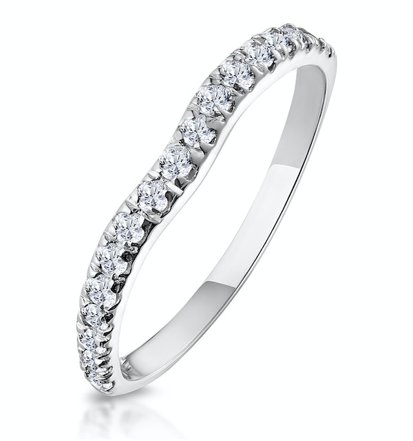 Matching Wedding Band 0.20ct H/Si Diamond in 18K White Gold - image 1