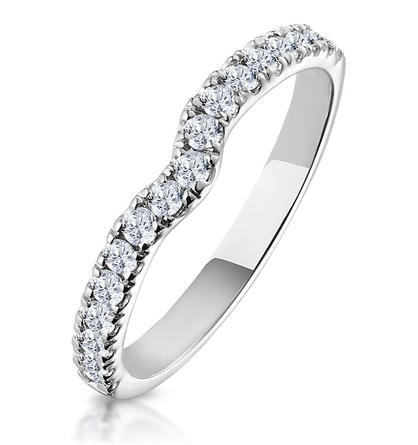 Lily Matching Wedding Band 0.35ct H/Si Diamond  in 18K White Gold - image 1