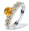 Stacking Ring Set Citrine  in Sterling Silver - UT33220 - image 1