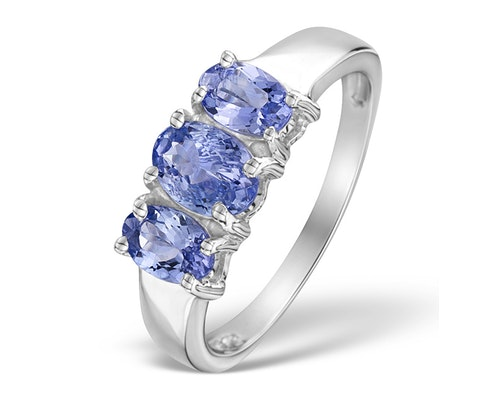 3 Stone Tanzanite Rings
