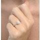 Halo Engagement Ring Ella 0.81ct VS Pear Shape Diamond 18K White Gold - image 3