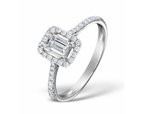 Ella Emerald Cut Engagement Rings