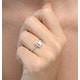 Halo Engagement Ring Ella 0.80ct VS Emerald Cut Diamonds 18KW Gold - image 3