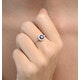 Halo Sapphire 0.75ct And Diamond 0.36ct 18K White Gold Ring - image 4