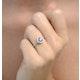 Halo Tanzanite 8.7mm And 0.36ct Diamond 18K White Gold Ring - image 4