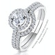 Ella Halo Diamond Engagement Ring 0.86ct H/SI2 Quality 18K White Gold - image 4