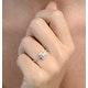 Halo Engagement Ring Ella 0.82ct G/Vs Princess Diamond 18K White Gold - image 3