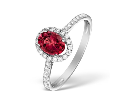 Ruby Halo Rings