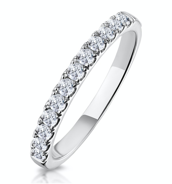 Adelle Matching Wedding Band 0.35ct H/Si Diamond  in 18K White Gold - image 1