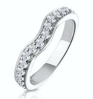 Matching Wedding Band 0.46ct H/Si Diamond  in 18K White Gold