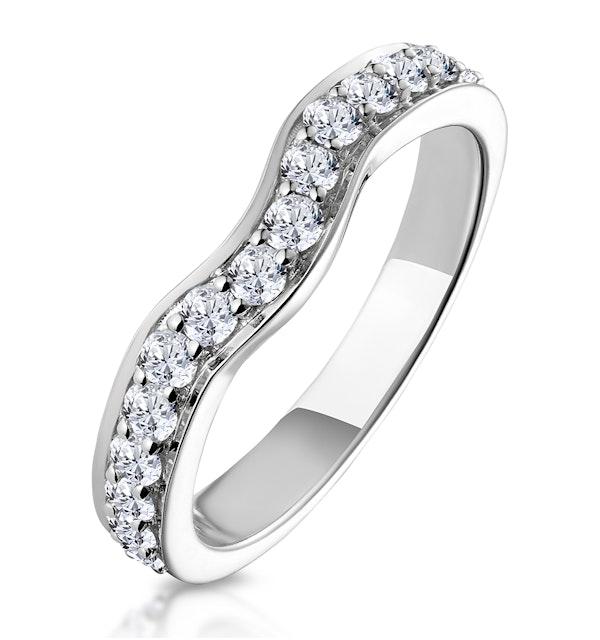 Seraphina Matching Wedding Band 0.46ct H/Si Diamond  in 18K White Gold - image 1