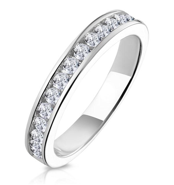 Alexa Matching Wedding Band 0.55ct H/Si Diamond  in 18K White Gold - image 1