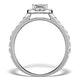 Halo Engagement Ring Aria 1.30ct SI2 Princess Diamond 18K White Gold - image 2