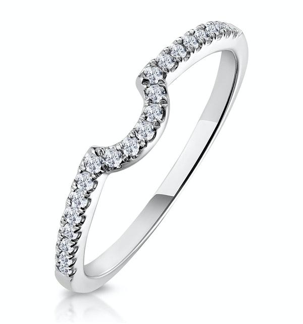 Nova Matching Wedding Band 0.20ct H/Si Diamond  in 18K White Gold - image 1