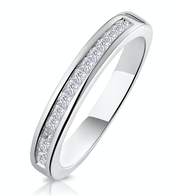Eleri Matching Wedding Band 0.50ct H/Si Diamond  in 18K White Gold - image 1