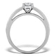 Sidestone Engagement Ring Eleri 0.90ct VS1 Princess Diamond 18KW Gold - image 2