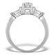 Sidestone Engagement Ring Vana 0.80ct VS1 Baguette Diamond 18KW Gold - image 2