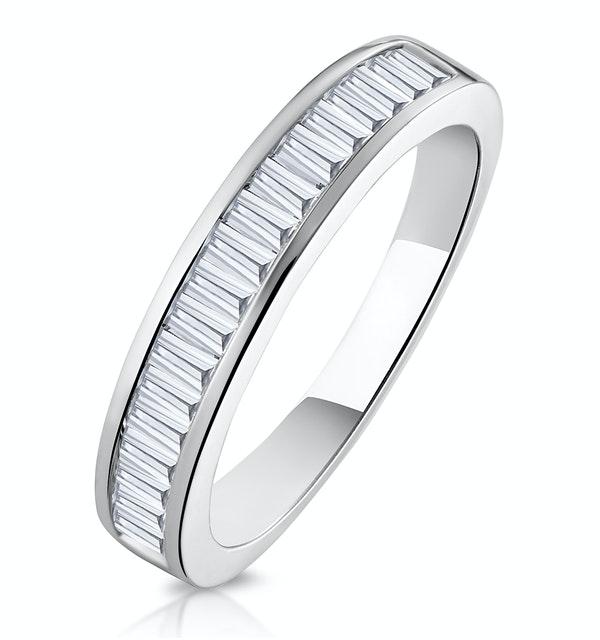 Yasmin Matching Wedding Band 0.65ct H/Si Diamond  in 18K White Gold - image 1