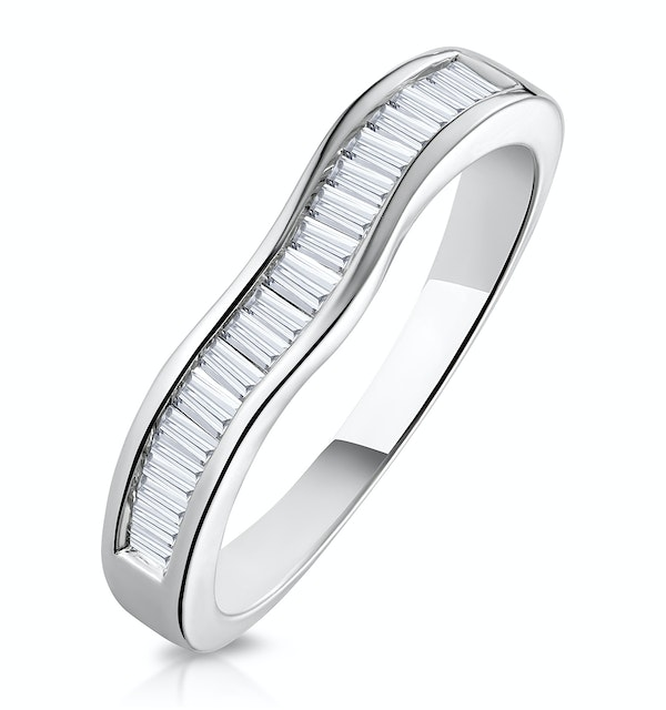 Elina Matching Wedding Band 0.45ct H/Si Diamond  in 18K White Gold - image 1