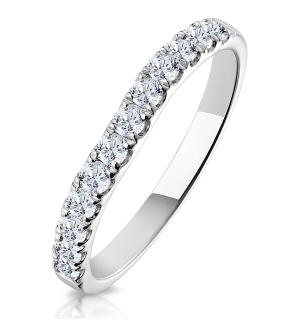 Talia Matching Wedding Band 0.35ct H/Si Diamond  in 18K White Gold - image 1
