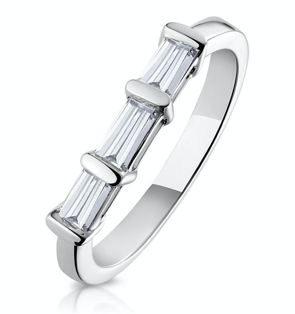 Galina Matching Wedding Band 0..40ct H/Si Diamond  in 18K White Gold - image 1