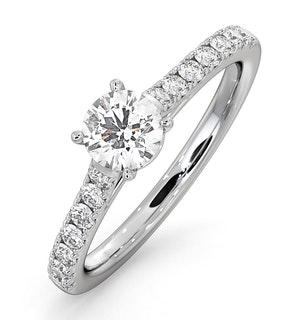 Natalia GIA Diamond Engagement Side Stone Ring Platinum 0.91CT G/SI2
