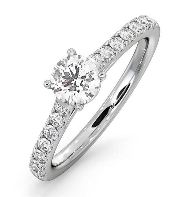 Natalia GIA Diamond Engagement Side Stone Ring Platinum 0.91CT G/SI2 - image 1