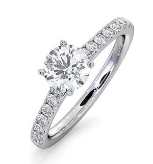 Natalia GIA Diamond Engagement Side Stone Ring Platinum 1.15CT G/SI2