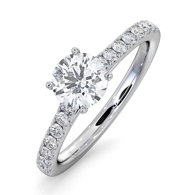 Natalia GIA Diamond Engagement Side Stone Ring Platinum 1.15CT G/SI1 - image 1