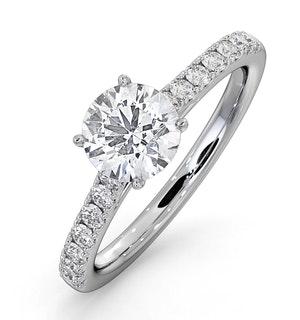 Natalia GIA Diamond Engagement Side Stone Ring Platinum 1.40CT G/VS1