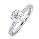 Natalia GIA Diamond Engagement Side Stone Ring 18KW Gold 0.91CT G/SI2 - image 1