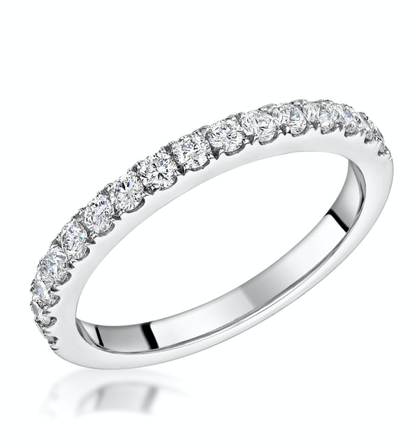 Natalia Matching 2MM Wedding Band 0.50ct H/Si Diamonds 18KW Gold - image 1