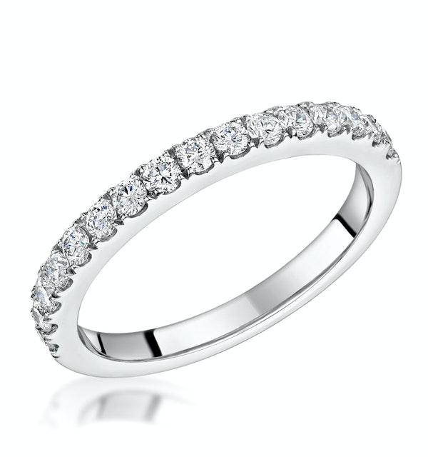 Natalia Matching 2MM Wedding Band 0.50ct H/Si Diamonds 18KW Gold - image 1