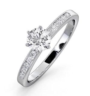Charlotte GIA Diamond Engagement Side Stone Ring Platinum 0.65CT G/SI2