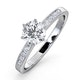 Charlotte GIA Diamond Engagement Side Stone Ring 18KW Gold 0.88CT VS2 - image 1