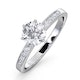 Charlotte GIA Diamond Engagement Side Stone Ring 18KW Gold 1.10CT VS1 - image 1