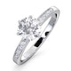 Charlotte GIA Diamond Engagement Side Stone Ring 18KW Gold 1.20CT VS1 - image 1