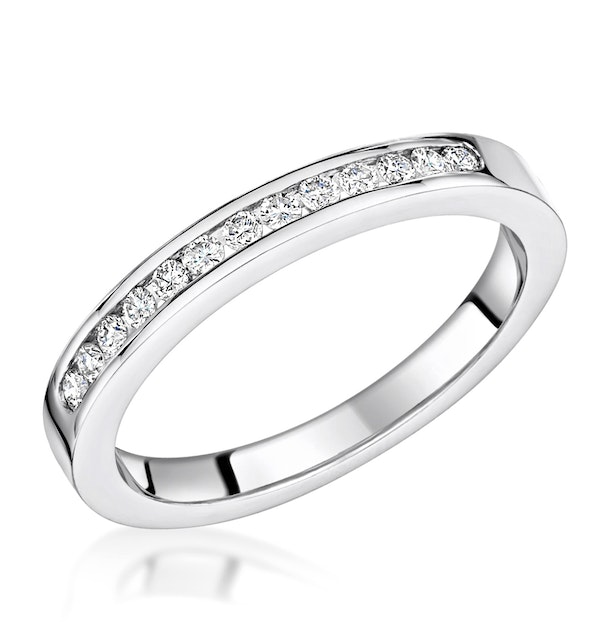 Charlotte 2.6MM Wedding Band 0.15ct H/Si Diamonds 18KW Gold - image 1