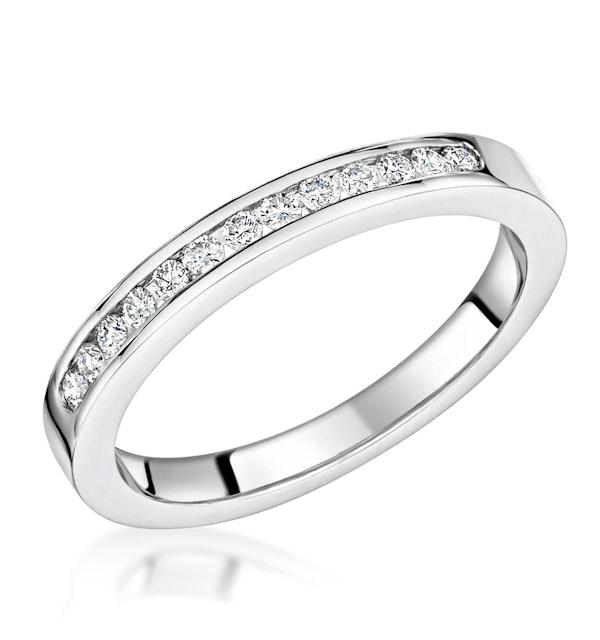 Charlotte 2.6MM Wedding Band 0.20ct H/Si Diamonds Platinum - image 1