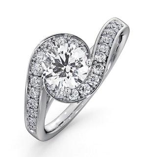 Anais GIA Diamond Engagement Halo Ring Platinum 1.28CT G/SI2