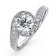Anais GIA Diamond Engagement Halo Ring Platinum 1.38CT G/VS1 - image 1
